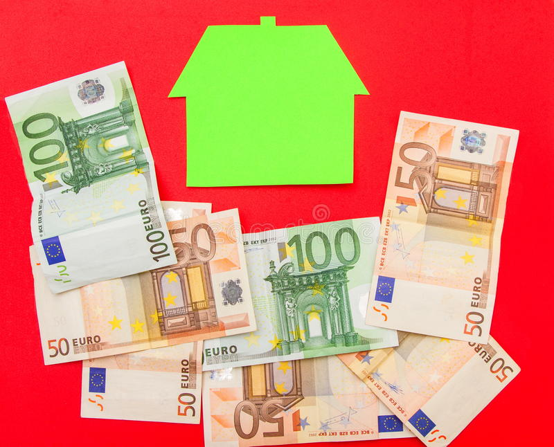 Huis en euro royalty-vrije stock fotografie