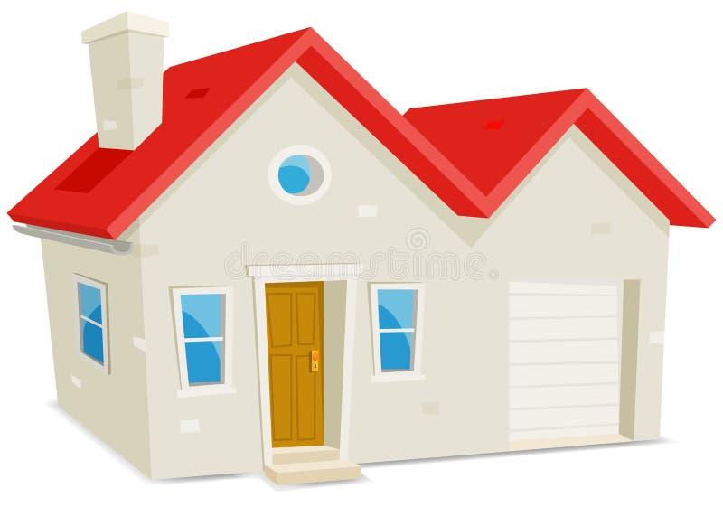 Huis en Garage stock illustratie