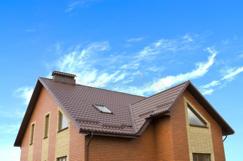 Huis en hemel stock afbeelding