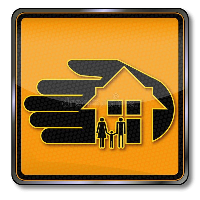 Huis en huisverzekering vector illustratie
