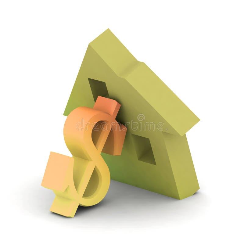 Huis en loand vector illustratie