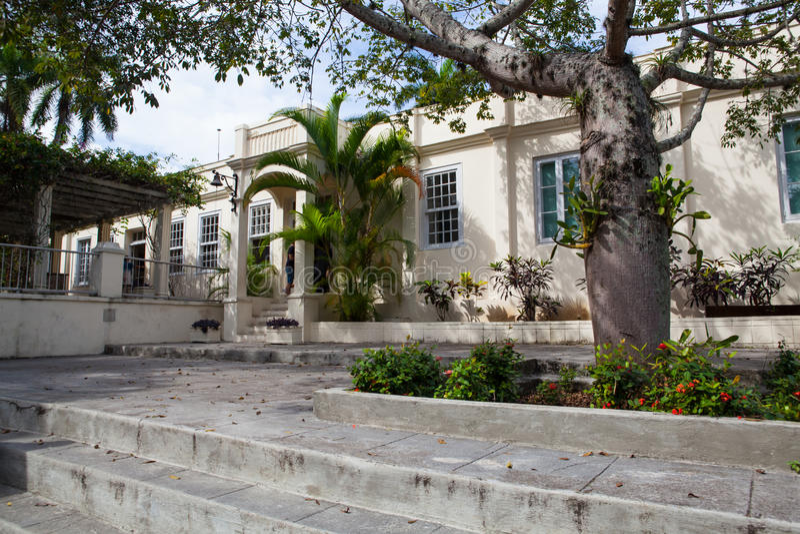 Huis Finca Vigia waar Ernest Hemingway vanaf 1939 tot 1960 leefde royalty-vrije stock foto