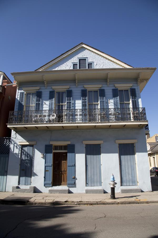 Huis in Frans Kwart New Orleans Louisiane de V.S. stock foto's