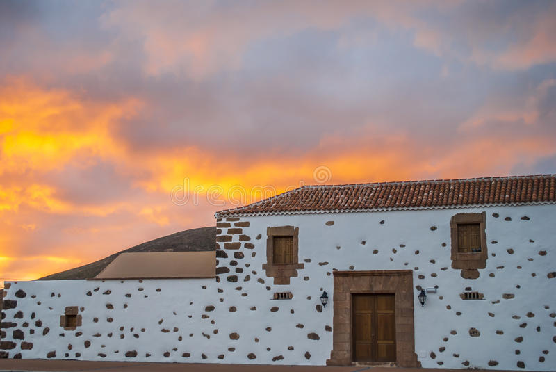 Huis - Fuerteventura, Canarische Eilanden, Spanje royalty-vrije stock afbeelding