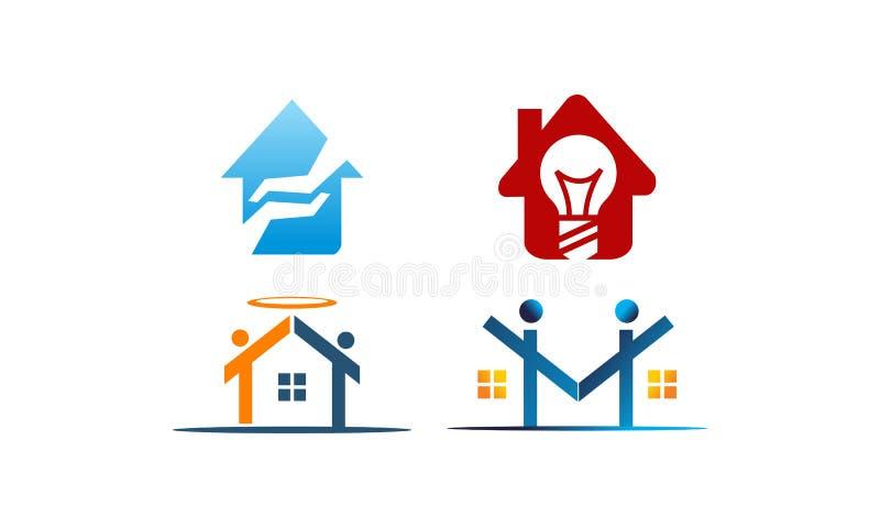 Huis Geplaatst Real Estate royalty-vrije illustratie