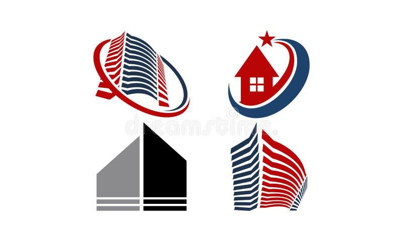 Huis Geplaatst Real Estate vector illustratie