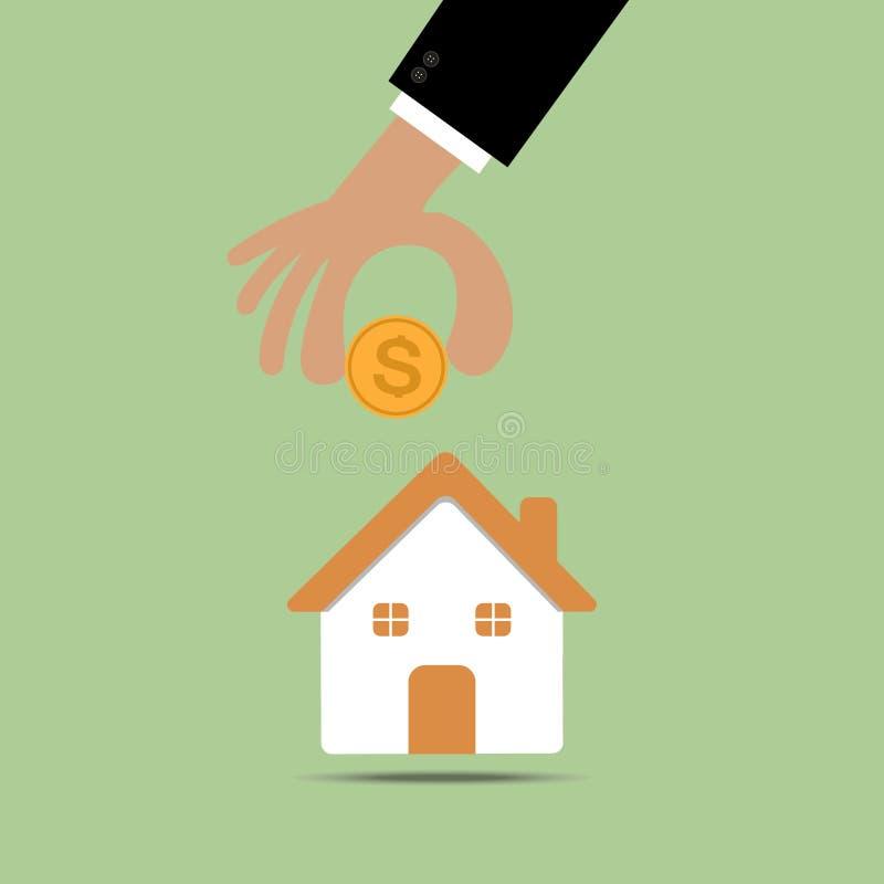 Huis gevormd spaarvarken vector illustratie
