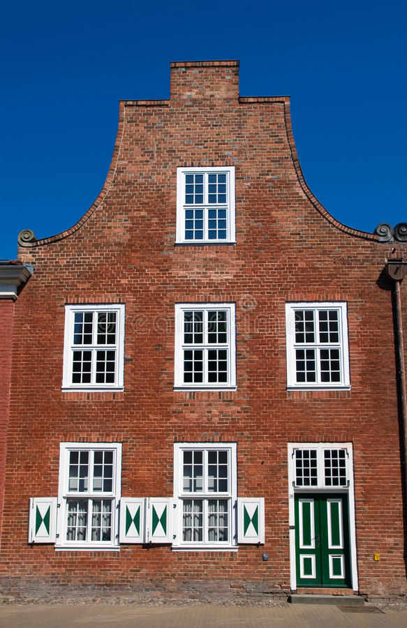 Huis in het Nederlandse kwart stock foto