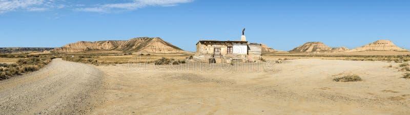 Huis in het wilde westen stock fotografie