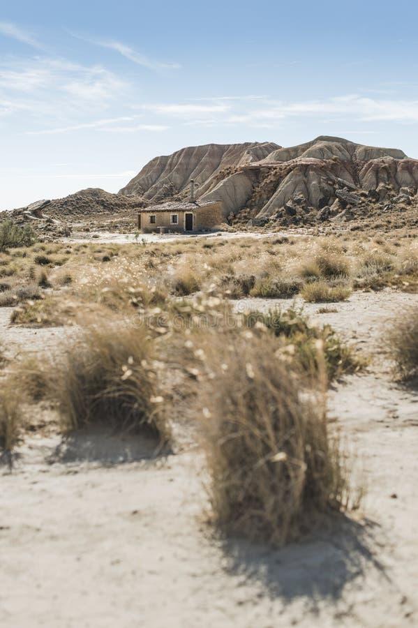 Huis in het wilde westen royalty-vrije stock afbeelding