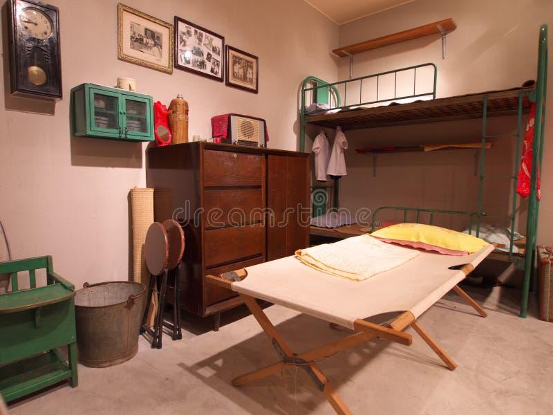 Huis in Hongkong in jaren '60 stock foto