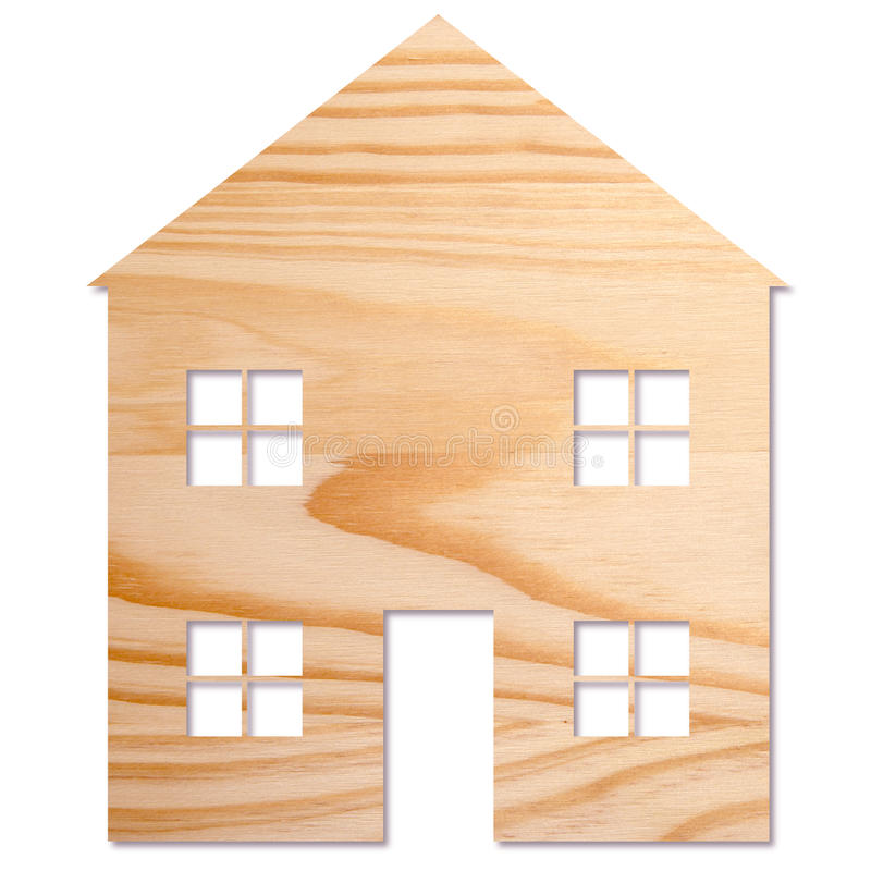 Huis in hout royalty-vrije stock foto