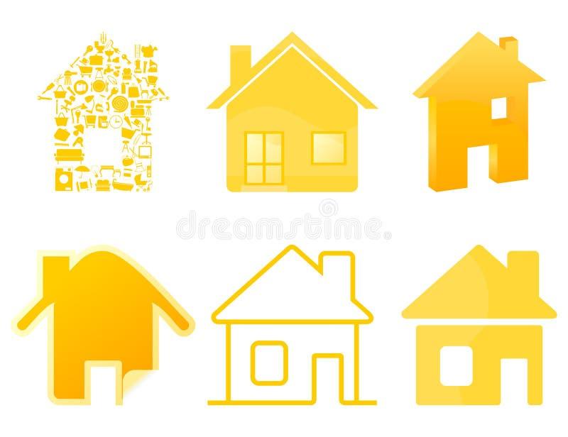 Huis icon4 vector illustratie