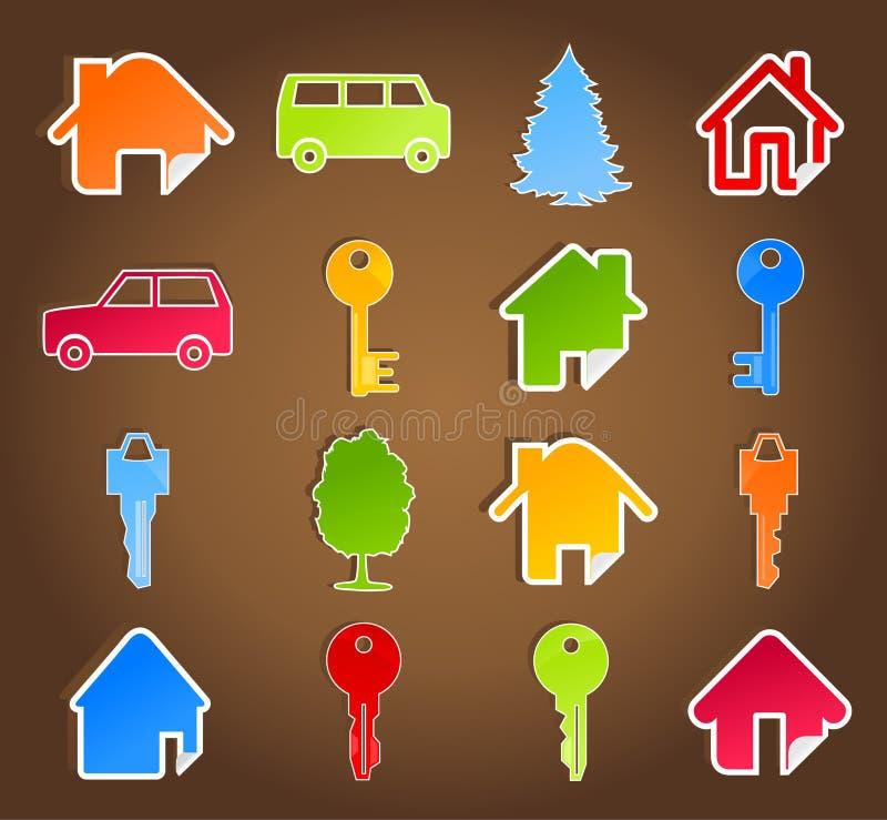 Huis icon5 stock illustratie