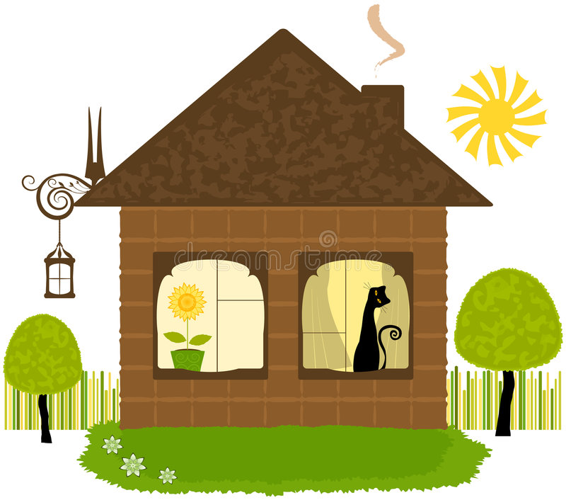 Huis illustraiton royalty-vrije illustratie