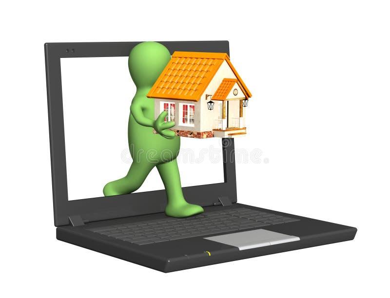 Huis Internet royalty-vrije illustratie