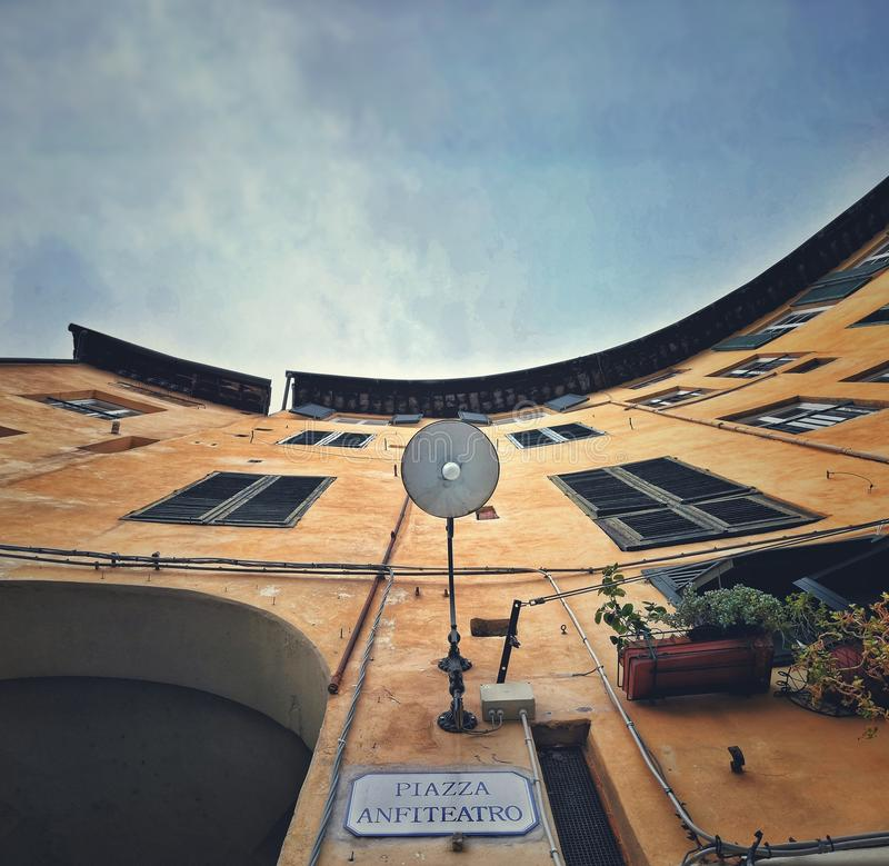 Huis in Italië, Toscanië stock foto