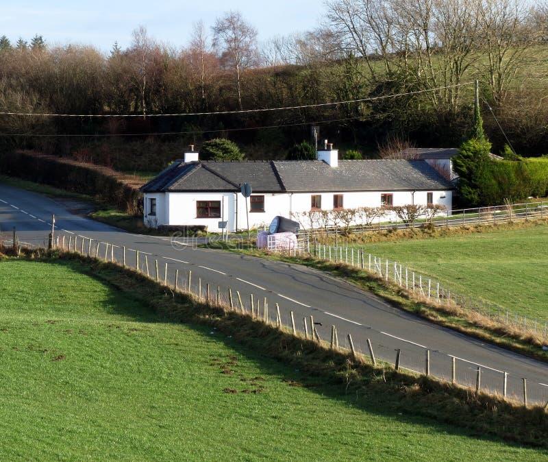 Huis, kant van de weg royalty-vrije stock foto