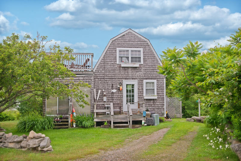 Huis in Kennebunkport Maine stock foto's