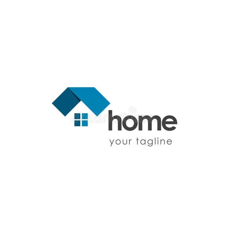 Huis Logo Vector Template Design Illustration vector illustratie