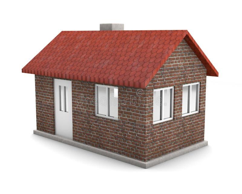 Huis met baksteen vector illustratie