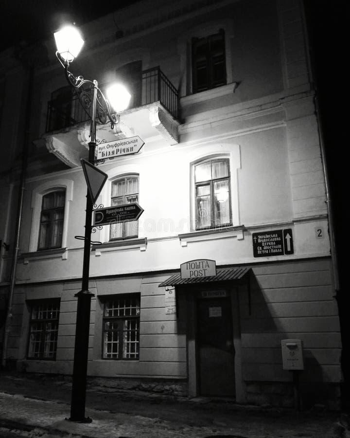 Huis met een lantaarn royalty-vrije stock afbeeldingen