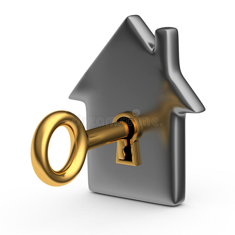 Huis met een sleutel vector illustratie
