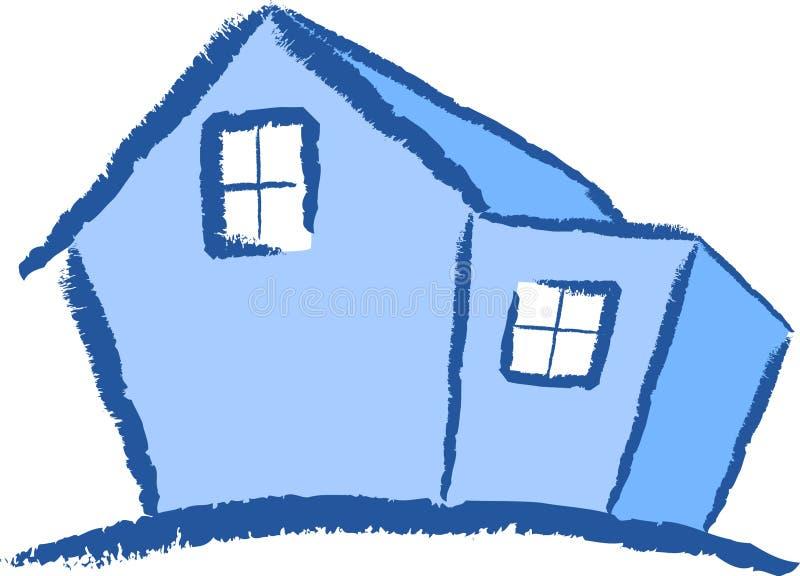 Huis met een Uitbreiding stock illustratie