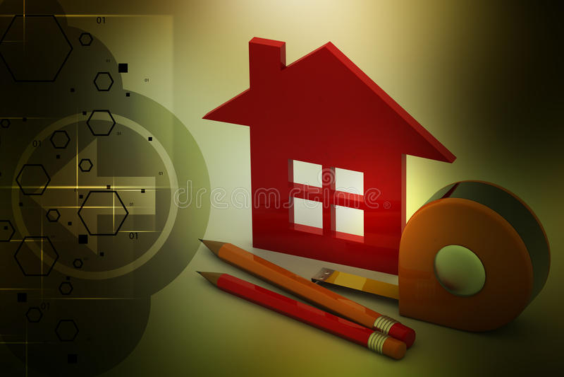 Huis met Hulpmiddelen vector illustratie