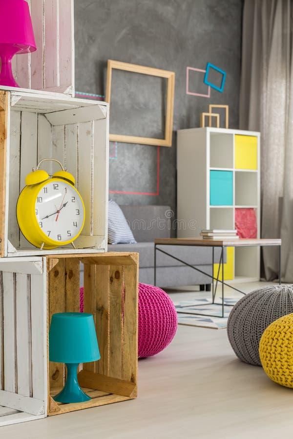 Huis met kleurrijke details stock foto