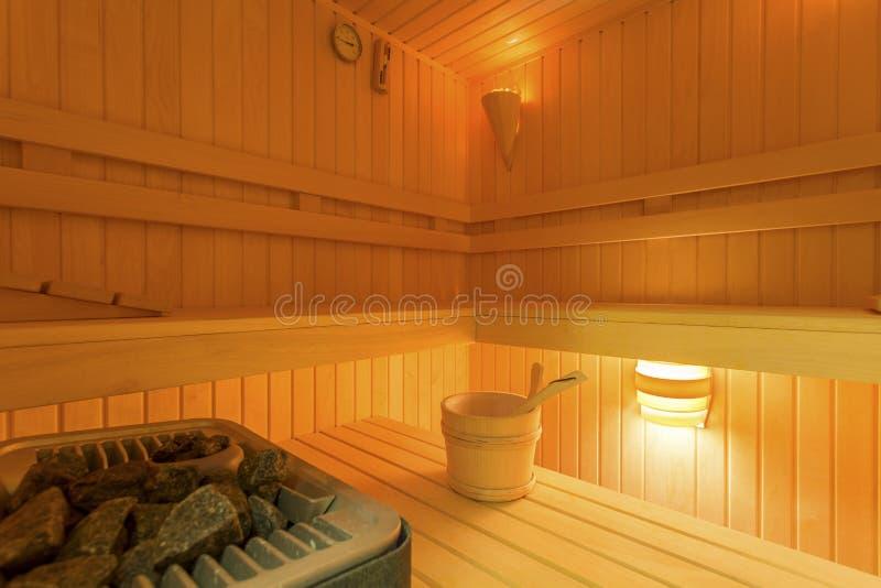 Huis met sauna stock foto's