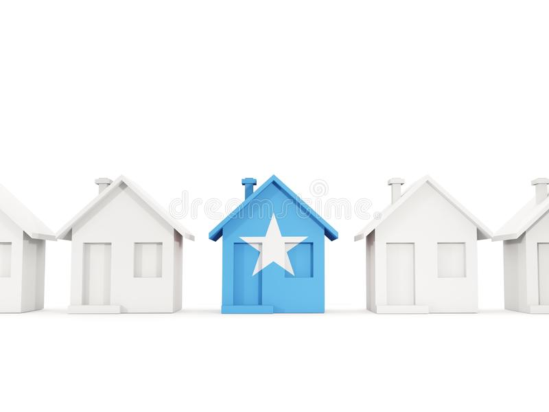 Huis met vlag van Somalië vector illustratie