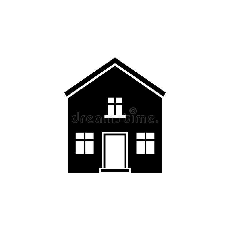 Huis met zolderpictogram Element van reispictogram voor mobiel concept en Web apps Het dunne lijnhuis met zolderpictogram kan zij vector illustratie