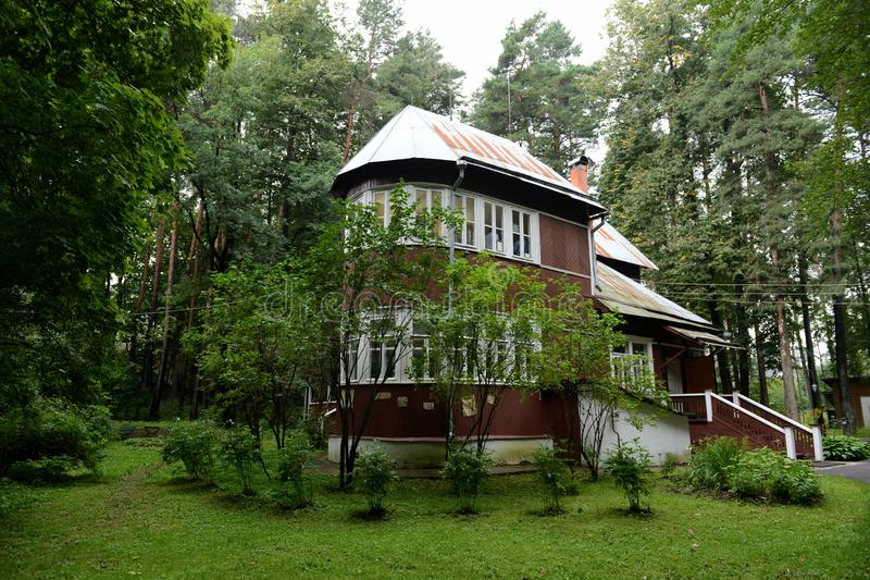 Huis-museum van Nobel-laureaat Boris Pasternak in Peredelkino royalty-vrije stock afbeelding