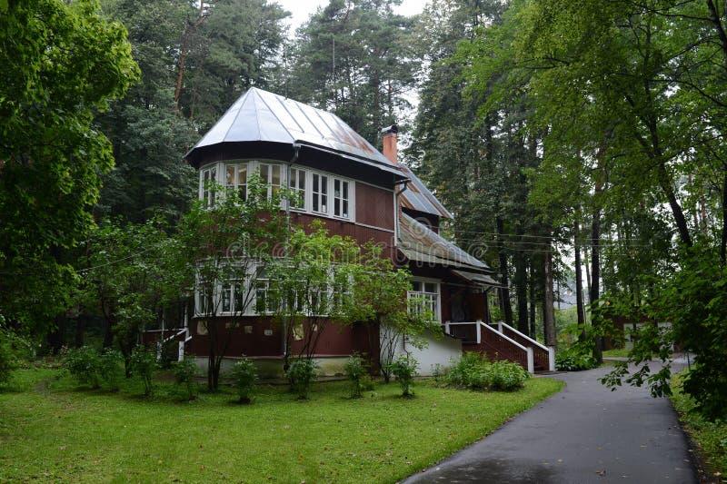 Huis-museum van Nobel-laureaat Boris Pasternak in Peredelkino royalty-vrije stock foto's
