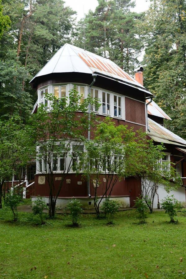 Huis-museum van Nobel-laureaat Boris Pasternak in Peredelkino stock foto's