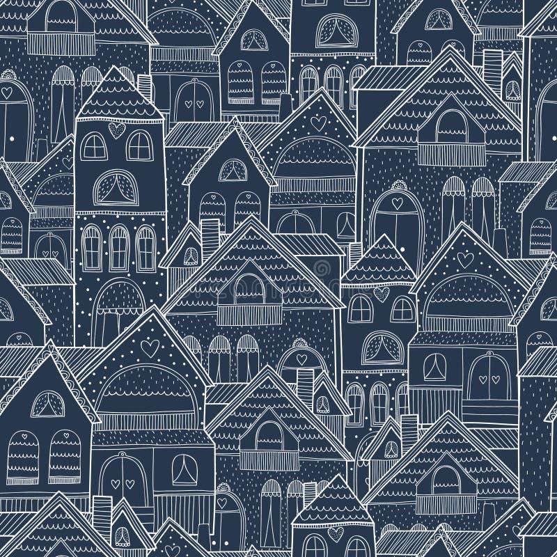 Huis naadloze achtergrond vector illustratie