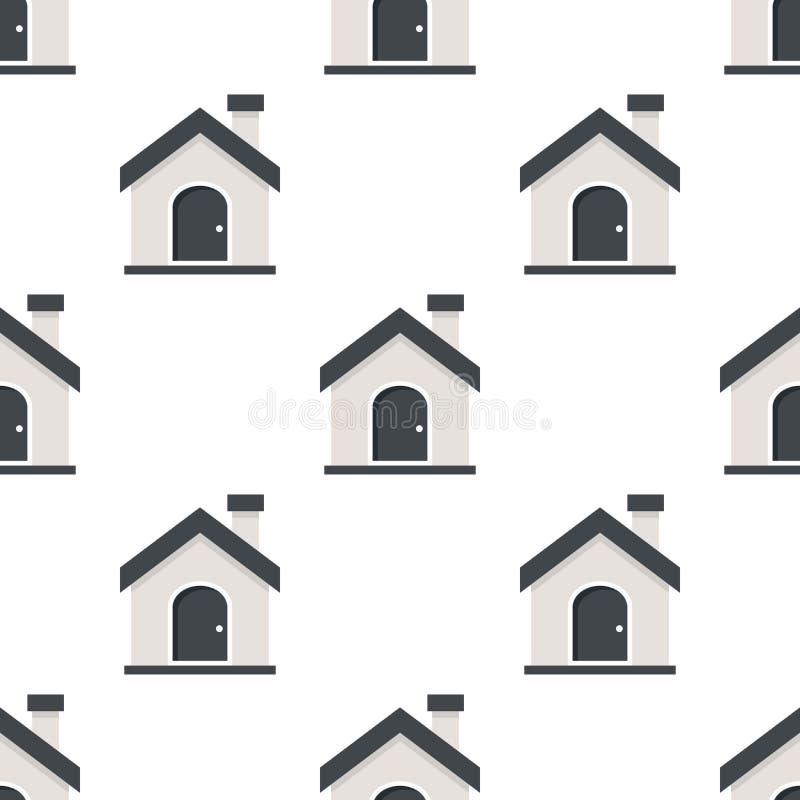 Huis of Naadloze Patroon van het Huis het Vlakke Pictogram royalty-vrije illustratie