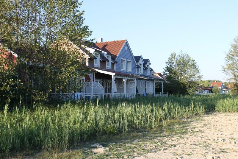 Huis in nature/at het strand royalty-vrije stock foto's