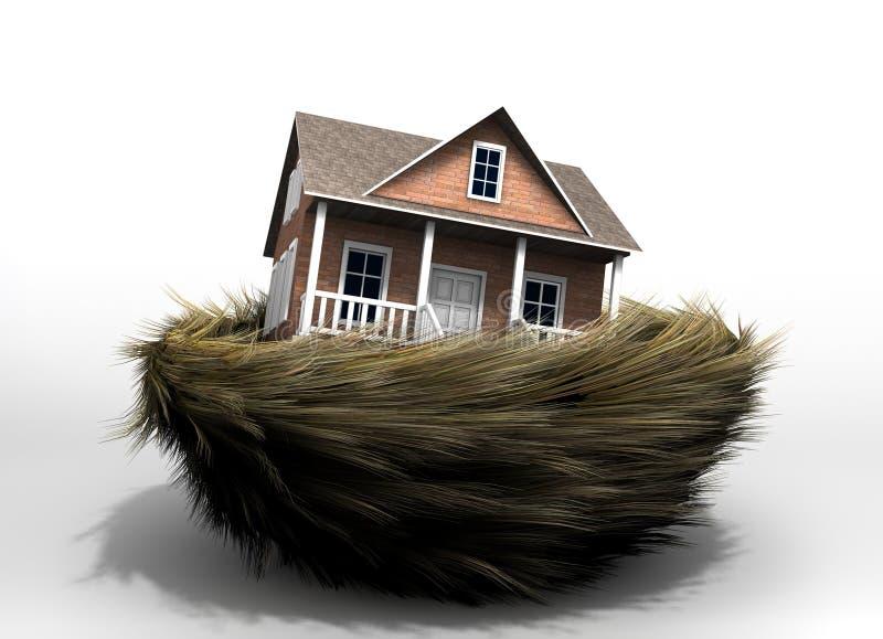 Huis in nest vector illustratie