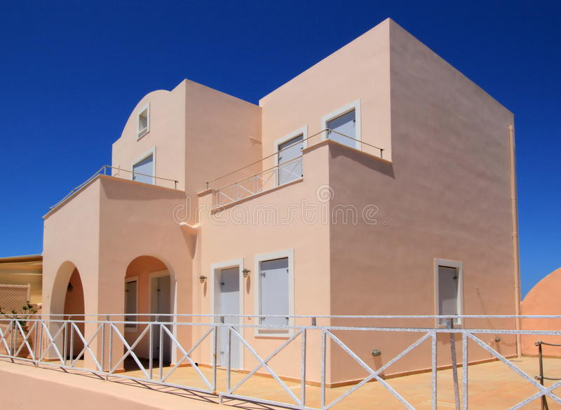 Huis, Oia, Santorini, Griekenland stock foto's