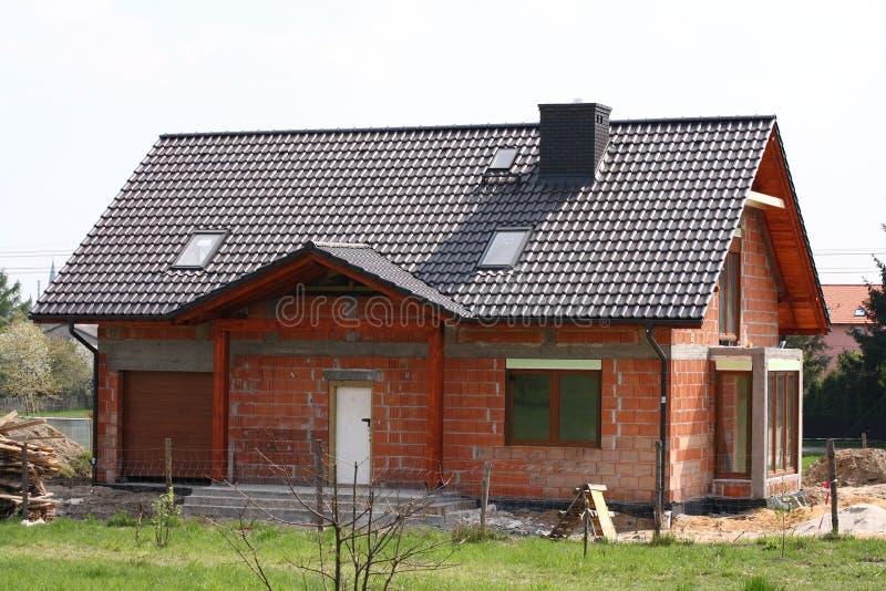Huis onder contruction royalty-vrije stock foto