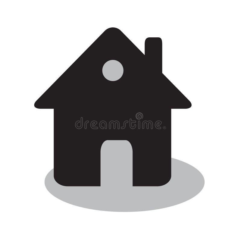 Huis of onroerende goederen huis eenvoudig vlak zwart vectorpictogram, of hous vector illustratie