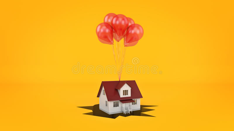 Huis op de onderbreking, concept vector illustratie