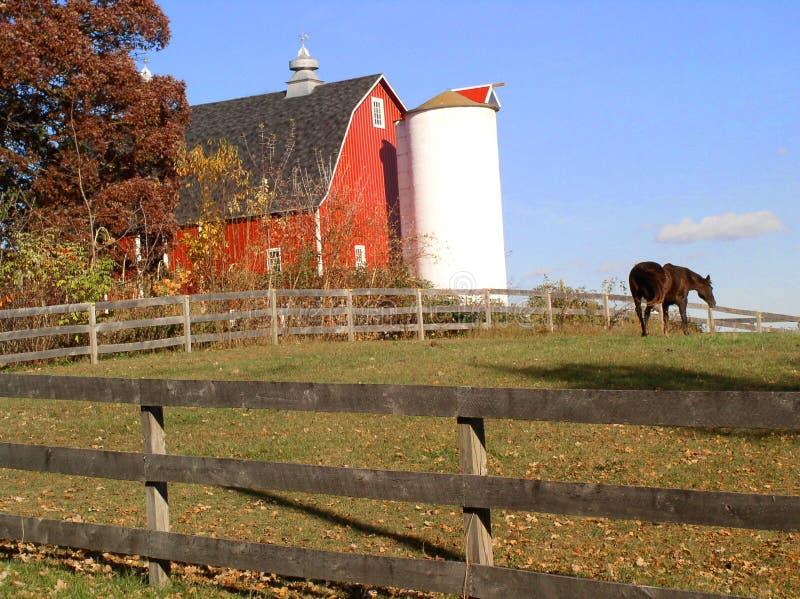 Huis op het landbouwbedrijf royalty-vrije stock afbeeldingen