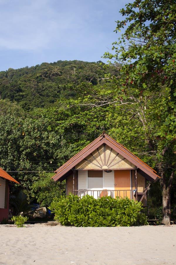 Huis op het strand royalty-vrije stock afbeeldingen