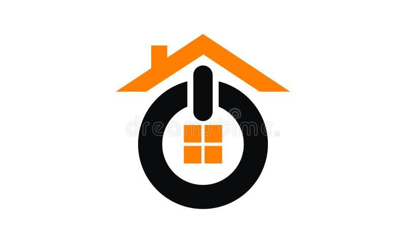 Huis OP Logo Design Template vector illustratie