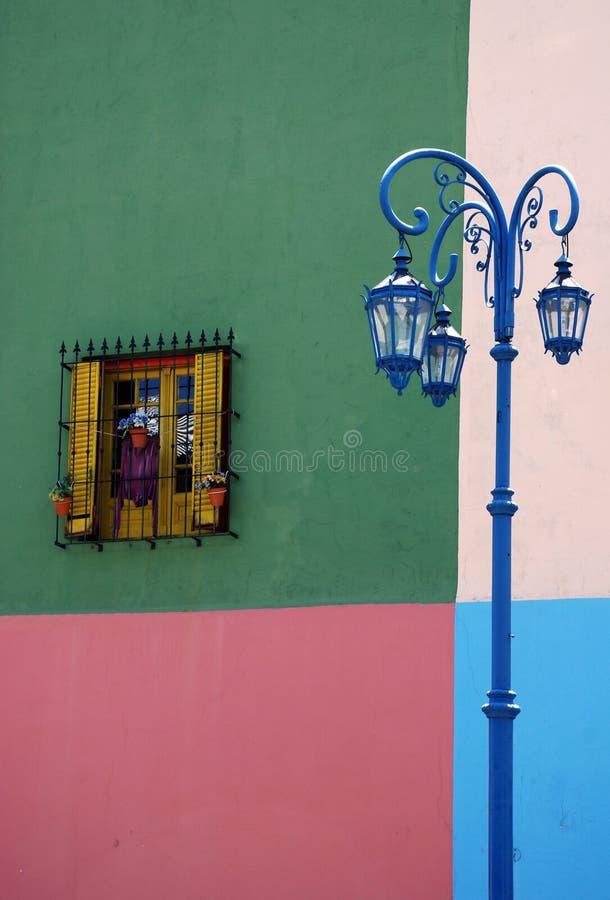 Huis op straat Caminito stock foto