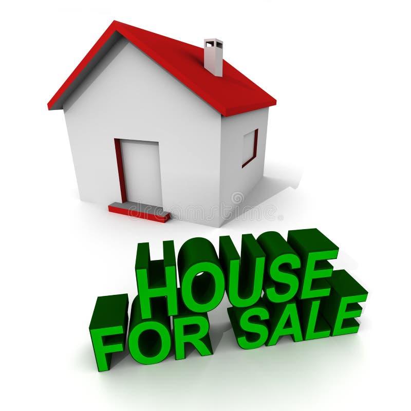 Huis op verkoop royalty-vrije illustratie