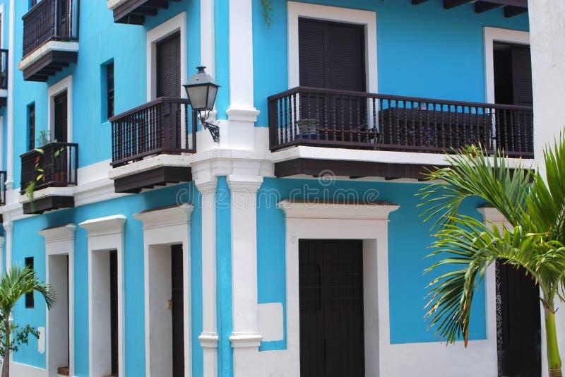 Huis in Oud San Juan royalty-vrije stock afbeeldingen
